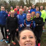 Our largest Sunday Social run yet with 22 Harriers!